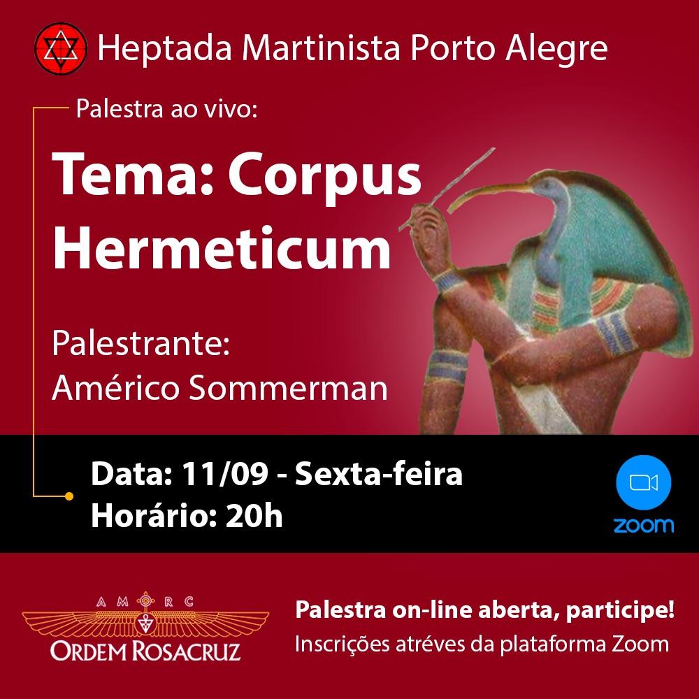 Corpus Hermeticum – Palestra Online Aberta
